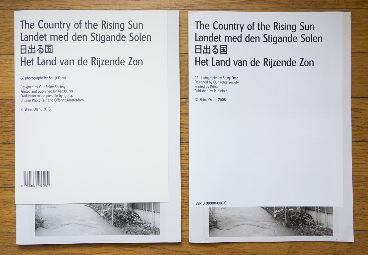 Shinji Otani's The Country of the Rising Sun (on the right: dummy)
